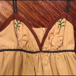 Voom by Joy Han Dresses - VOOM JOY HAN Tan Birds Dress w unique straps! NWT